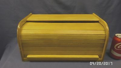 2042M Vtg Kamenstein Roll Top Bread Box Bamboo ROLLS SMOOTHLY Made in THAILAND