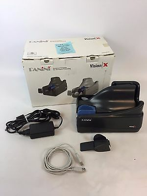 Panini Vision X Check Scanner w/ PS and USB Cable 50 DPM 50 Doc Feeder Tested