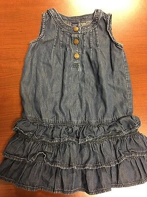Toddler Little Girl Baby Gap Blue Jean Dress Size 3yr