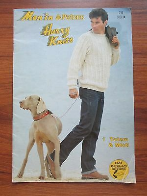 Patons Men's Hurry Knits Pattern Book 737
