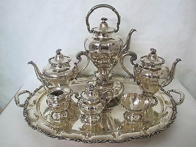 Massive And Beautiful 7 Piece Mexican Sterling Tea Set By Kimberly
