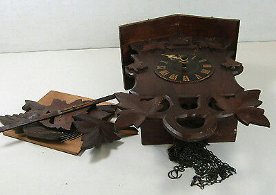 Cuckoo Clock Imported by Swiss Clock Company Germany 1915 For Parts Or Repair