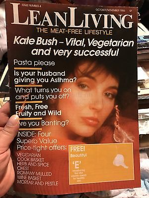 Kate Bush Living Lean Vegetarian Vegan Magazine Rare October November 1986