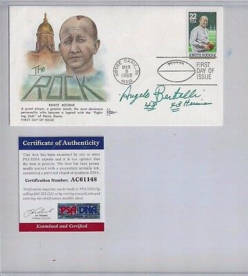 Angelo Bertelli Notre Dame Football Autographed Rockne First Day Cover PSA COA