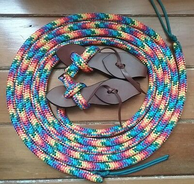 split reins with leather slobber straps