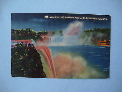 Assortment of 7 Uncirculated Niagara Falls Linen Postcards