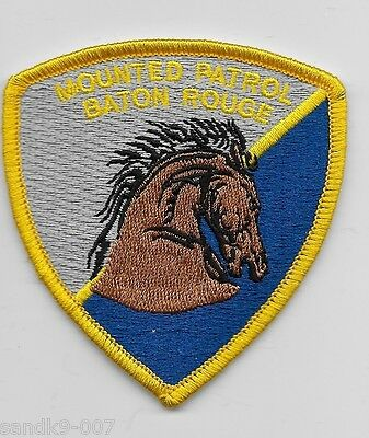 Mounted Patrol Baton Rouge Police State of LOUISIANA LA Shoulder Patch