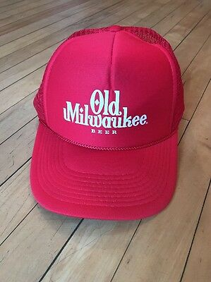 204b76a84 OLD MILWAUKEE BEER Vintage Snapback Hat Cap Mens One Size 90s Mesh ...