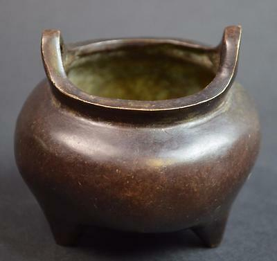 Chinese Mini Bronze Tripod Incense Burner