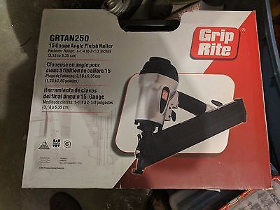 BRAND NEW in Box Grip-Rite GRTAN250 15 Gauge Angle Finish Nailer