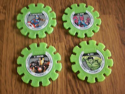 Woolworths Marvel Discs  4 X Green Includes Hulk