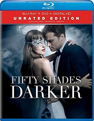 Fifty Shades Darker - Unrated Edition Blu-Ray and DVD and Digital Hd New .