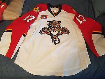 Florida Panthers game worn Winchester #17 jersey w/ 20th patch