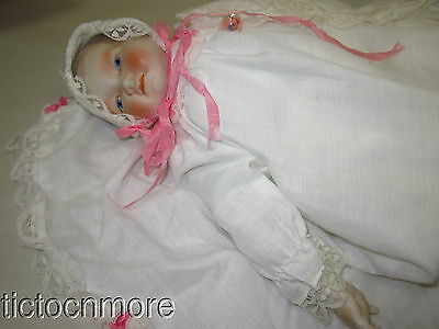 Vintage German Dream Baby Bye-Lo Style Painted Face Bisque Doll