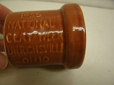 1955 National Clay Week Pipe Souvenir Brown Sewer Pipe - Uhrichsville OHIO