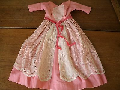Vintage Handmade Baby Girl Dress - with Lace (BC38)