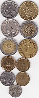 10 Different Coins from Argentina