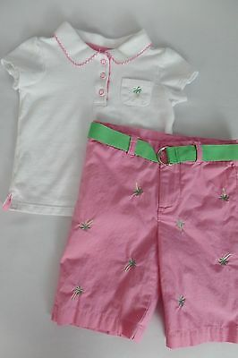 Baby girls size 12 months CHELSEA'S CORNER palm tree SUMMER outfit EUC