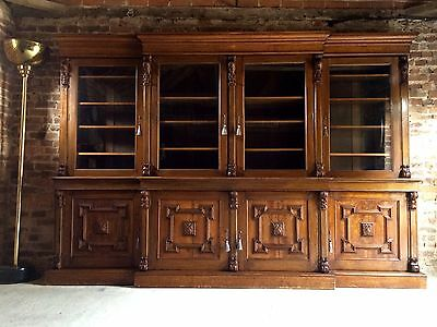 Fabulous Antique 19th Century Victorian Glazed Breakfront Bookcase