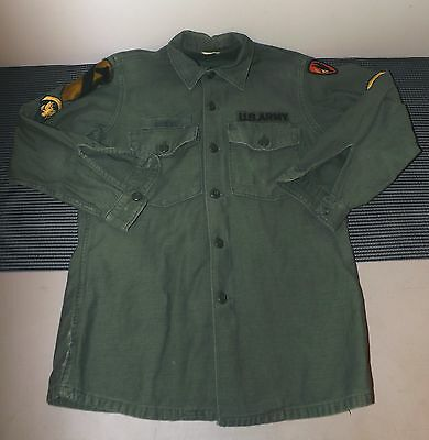 Vintage US Army Shirt With Patches - Size 15 1/2 x 33 (AS3)