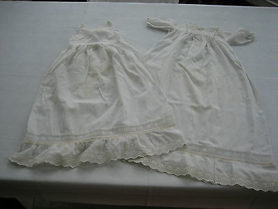 Vintage Antique Baby Baptismal / Christening Dress / Gown w Matching Slip