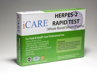 HSV 2 Herpes Rapid Home Test Kit STI STD Approved by many global organisations