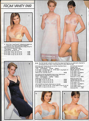 Pretty Ladies in All Together Look Vintage Catalog Lingerie Slip Photo Clippings