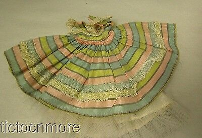 """Vintage American Character Betsy Mccall 8"""" Doll Clothes Stripe Party Dress"""