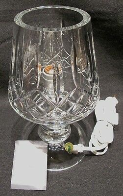 *REDUCED* Rare Signed Waterford Crystal Lismore Taper Accent Lamp
