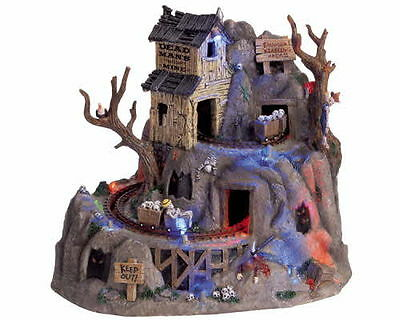 """2006 Lemax Spooky Town Collection """" Dead Man's Mine """" Animated - Musical - Light"""