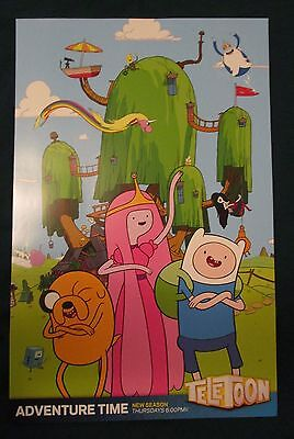 Adventure Time Tv show Promo Poster Fan Expo Comic Con 2014