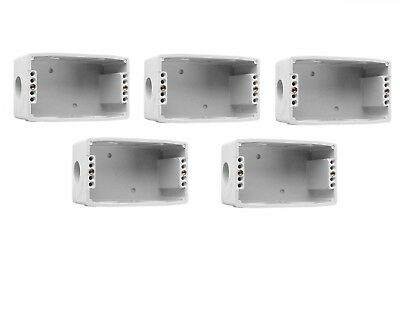 Clipsal 237 5-Pack Wall Mount Box Std One Gang Electrical/power Switch Enclosure