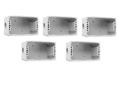 Clipsal 257 5-Pack Wall Mount Box Std One Gang Electrical/power Switch Enclosure