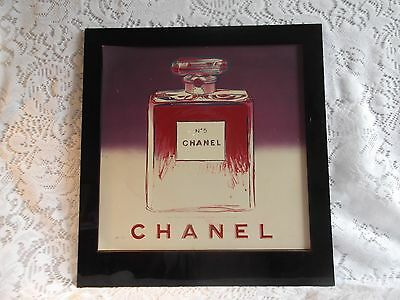 1997 ADVERTISING STORE COUNTER DISPLAY Sign Chanel No 5 Perfume Bottle