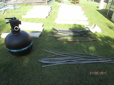 above ground pool - Classic Pool including sand filter and pump