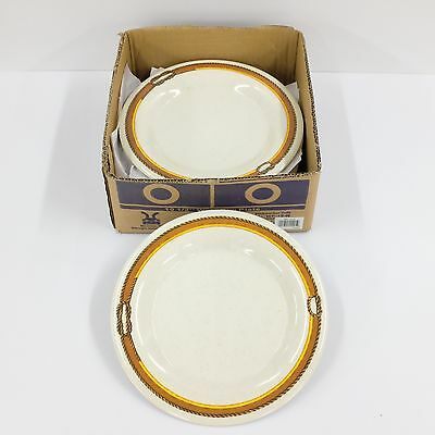 Lot of 8 G.E.T Diamond Rodeo Melamine Large Plates Western Style Rim 10.5 in