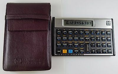 HP 15C Hewlett Packard Calculator with original brown soft leather case Mint
