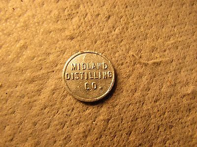 MIDLAND DISTILLING CO. Good For 2 1/2¢ In Trade Token