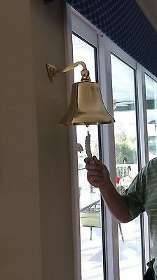 "Vintage Brass Ship Bell 6"" Solid Nautical Home Garden Kitchen Boat Decor Marine"