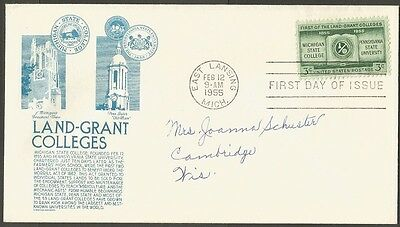 Us Fdc 1955 First Land-Grant Colleges 3C C S Anderson First Day Of Issue Cover