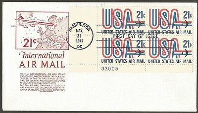 Us Fdc 1971 International Air Mail 21C Cs Anderson First Day Of Issue Cover