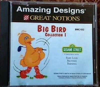 Brother/Babylock Embroidery Machine Memory Card BIG BIRD SESAME STREET