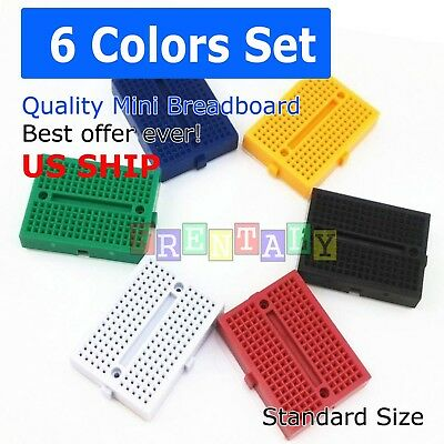 5X Mixed 170 Tie-points Mini Solderless Prototyping Breadboard for Arduino