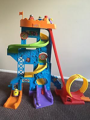 Fisher Price Little People Car Tower- Over 2 Ft Tall