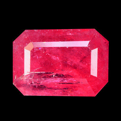 Rare Gems Stone Collectio Natural Unheat Brazilian Rhodonite Octagon Cut 1.72 Ct