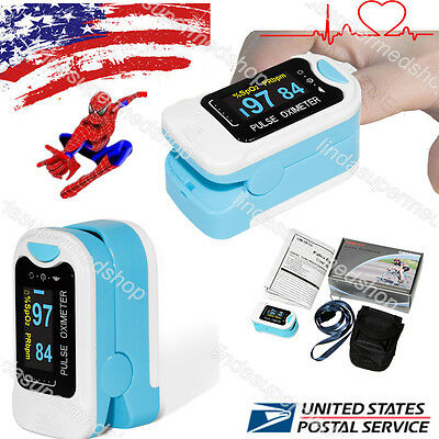 2017 USA Pulse Oximeter Fingertip Pulse Blood Oxygen SpO2 Monitor,Pouch,Lanyard