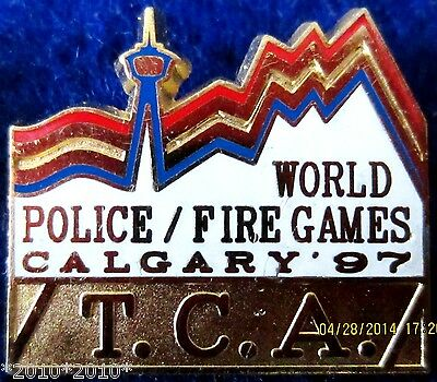 World Police - Fire games Calgary  97 T.C.A. pin