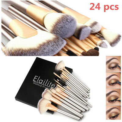24pcs Pro Makeup Brushes Set Cosmetic Eyeshadow Powder Foundation Lip Brush Tool