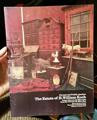 Book: Antique American Folk Art, Pottery, Americana Antiques - Koch Collection
