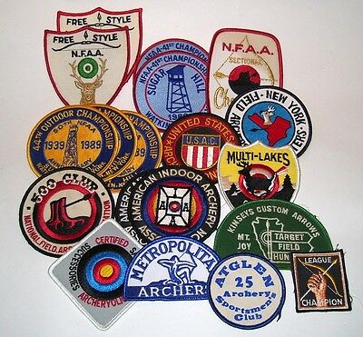 19 Vintage Archery Patches Bow Arrows Nfaa Sportsmen Club Usac Iaaa